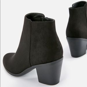 Shoes - Black Block-Heel Booties